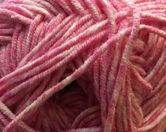 Candy Pink Cascade Sarasota Cotton and Acrylic Yarn 100 grams 314 yards color 01