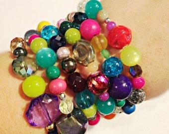 The Charlotte Bracelet, Multi-Crystal Bracelet, Swarovski Bracelet, Unicorn Bracelet, Rainbow Bracelet, Multi-Bead Bracelet, Bright Bracelet