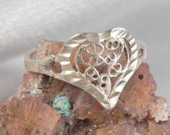 Sterling Heart Ring