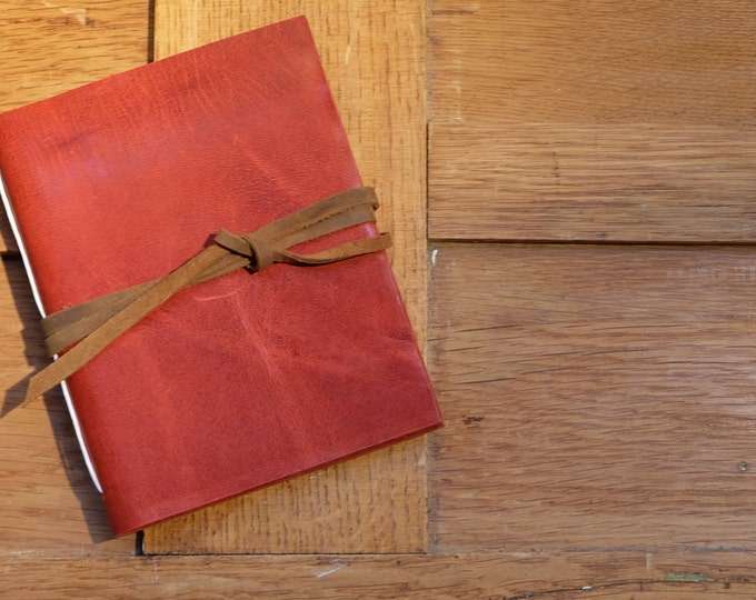 Artist's Leather Sketchbook - Red