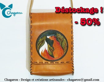 """""""Cunning"""" double leather bag"""