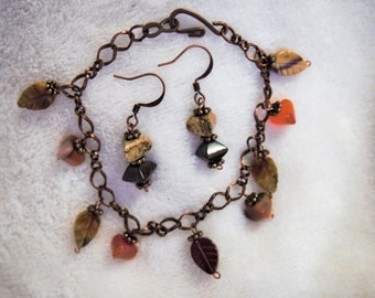 Fall. Bracelet and earrings