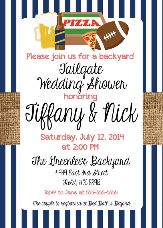 Tailgate Wedding Shower Invitation