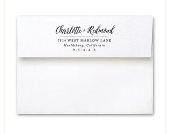 Aster Script Stamp - Custom Stamp - Custom Stamps - Address Stamp - Calligraphy - Script - Wedding Stamp