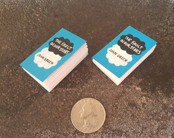 Miniature Book Magnets, John Green, TFIOS, The Fault in Our Stars, Bookish Gifts