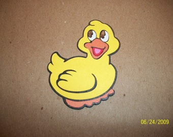 lot of 5 duck diecuts- cricut- fully assembled- 2 inches