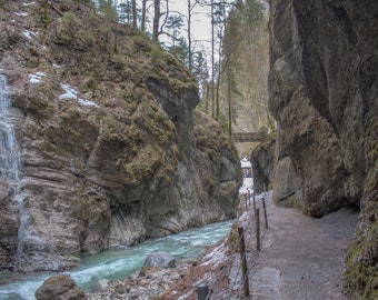 Partnachklamm Gorge Bavaria Alps Germany