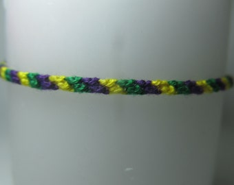 Mardis Gras Inspired Friendship Bracelet