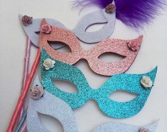 Neo Blythe doll masquerade mask Mardi Gras elegant blythe clothes glitter mask party mask lolita blythe photo prop
