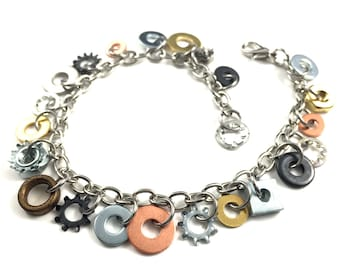 Charm Bracelet Chain Bracelet Steampunk Hardware Jewelry