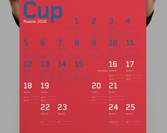 Russia 2018 A2 sized World Cup Wall chart