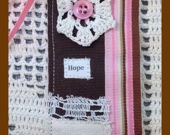 Bookmark - Gift Bookmark - Handmade - Bookworm Gift - Stocking Stuffer - Fabric Bookmark- Vintage - Bookmark of faith - Birthday Gift
