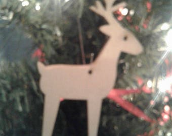 Wooden Reindeer Christmas Ornament