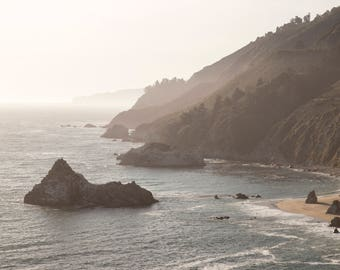 Big Sur Pacific coast photograph - Ocean large wall art - California wall decor- Landscape print - 11x14 inches horizontal