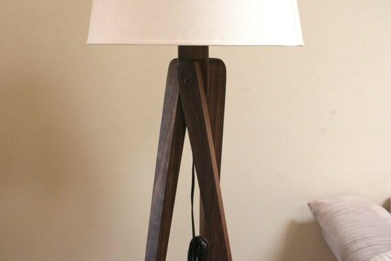 Floor Lamp Tripod Walnut
