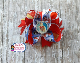 Rudolph the Red Nosed Reindeer Hair Bows,Reindeer Hair Bows,Reindeer Bows,Rudolph the red nosed Reindeer Bow,Rudolph Hair Bows,Rudolph Bows.