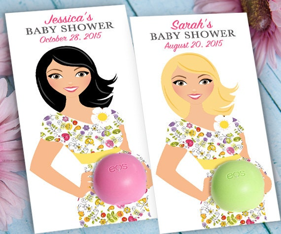 EOS Baby Shower Favors Mom To Be In Flower Dress Printable