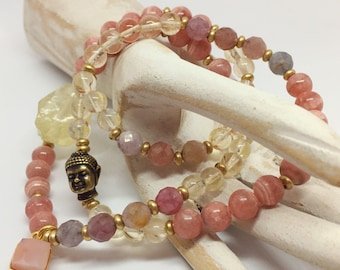 Yellow Lemon Quartz Stretch Bracelet