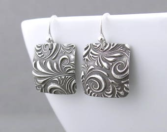 Unique Silver Earrings Dangle Earrings Holiday Gift Boho Gift for Women Bohemian Jewelry Under 50 - Unique Petites