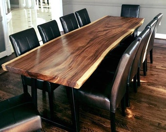The Royalty- Live Edge Monkey Pod or Guanacaste Dining Tables