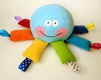 Plush Octopus - Octopus Softie - Plush Toy - Soft Tag Toy - Stuffed Animal