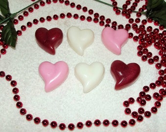 Valentine Heart Soap, Soap with Hearts, Heart Soap, Valentine Gift, Gift for Her, Glycerin Soap, Heart Soap, Wedding Soap