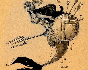 Anthea mermaid print