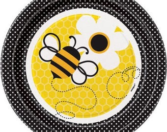 Sweet Bumble Bee dessert plates  / Bumble bee party / Bumble bee theme / Bumblebee /