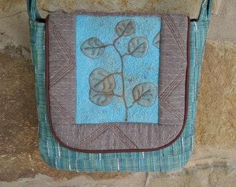 Fiberart Bag with Eco-Printed Flap