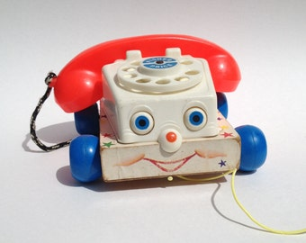 Vintage Chatter Phone Fisher Price Toy 1960's