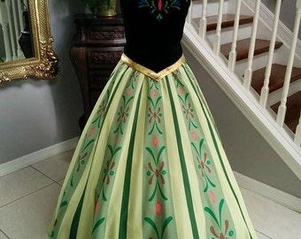 Anna Frozen Coronation Dress, Adult Costume.