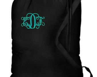 Laundry Bag Monogrammed, Camping Laundry Bags, Personalized Laundry, Monogram Laundry Bag, College Gift, Graduation Gifts, Summer Camp Bag