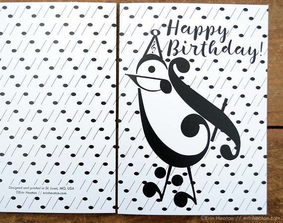 Music birthday card party bird music card music note music birthday card party bird music card music note birthday card musician birthday card happy birthday music teacher gift bookmarktalkfo