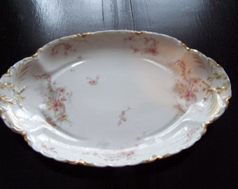 Antique HAVILAND & CO LIMOGES  gold ex-large platter 17.5 x 12 ex condition