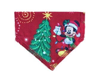 Mickey + Friends Crimson Christmas Cat Bandana