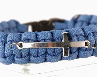 Cross Bracelet, Paracord Cross Bracelet, Cross Jewelry, Religious Jewelry, Christian Jewelry, Faith Jewelry, Confirmation, Faith Bracelet