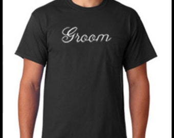 Embroidered Groom T-Shirt