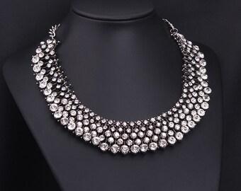 Women 2015 New Swarovski Crystal Party Necklace NK13975