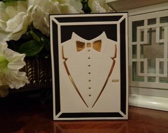 Custom Tuxedo Card