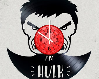 HULK 12 inch / 30 cm ViNYL WAll ClOCK MOVIE SMAASH wall clock gifts for Marvel gift for kids Hulk for children bedroom decor Infinity WaR