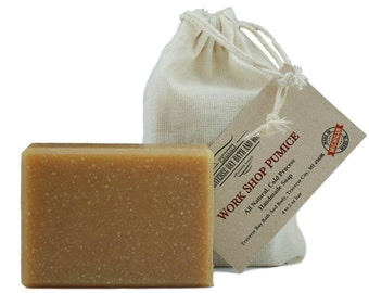 Workshop Pumice with oatmeal, all natural soap, handmade soap, cold process soap, vegan soap, essential  oil soap