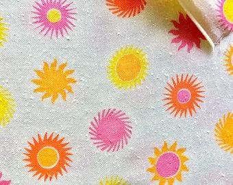 Vintage Fabric 60's Mod, Starburst, Cotton, Material, Textiles by Crown Fabrics Ltd.