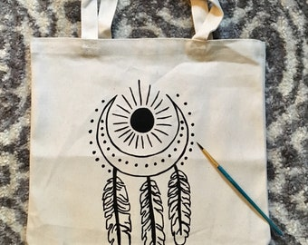 Sun and Moon Dreamcatcher Tote