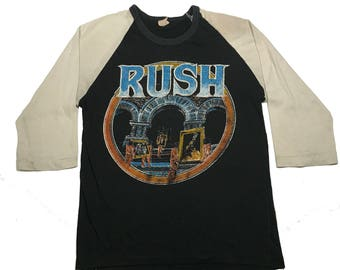 Vintage Rush 3/4 Sleeve Baseball Shirt Classic Rock 80's