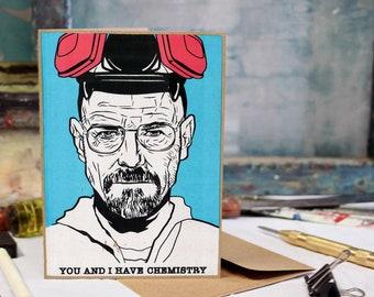Heisenberg Card, Breaking Bad, Birthday, Love, Anniversary Screen Printed by Hand.