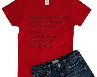 Delta Sigma Theta T-Shirt Delta definition