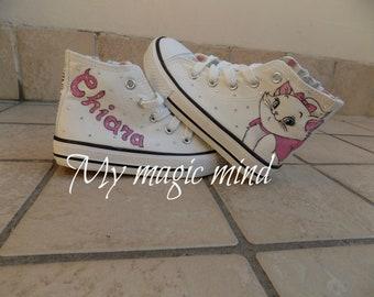 Hand painted Disney Minou shoes