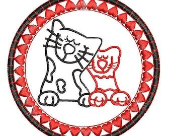 SALE Love cats Embroidery Design