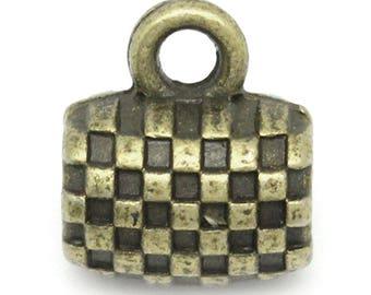 Cylinder pattern 10x9mm Bronze bail