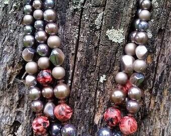Fabulous vintage beaded necklace
